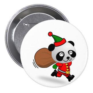 Botón de la panda de Santa Pin