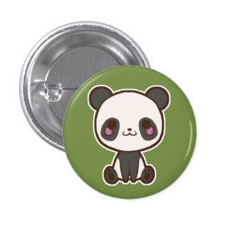 Botón de la panda pin redondo de 1 pulgada
