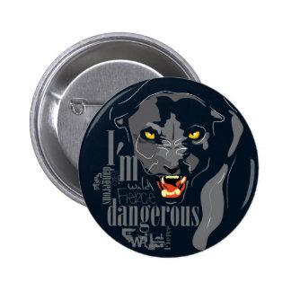 Botón de la pantera negra pin redondo de 2 pulgadas