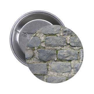 Botón de la pared de ladrillo, personalizar pin redondo de 2 pulgadas