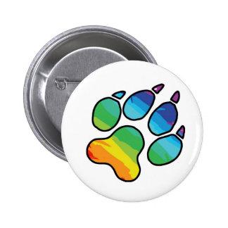 Botón de la pata del arco iris pin