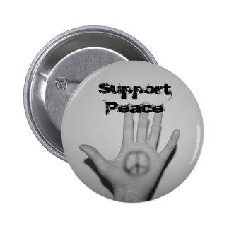 Botón de la paz de la ayuda pins