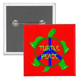 Botón de la paz de la tortuga pin