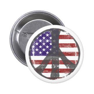 Botón de la paz de los E E U U Pins