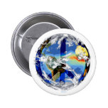 Botón de la paz de mundo pin