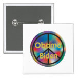 Botón de la PAZ de Obama Biden Pin