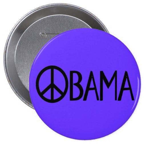 Botón de la paz de Obama Pin