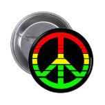 Botón de la paz de Rasta Pin