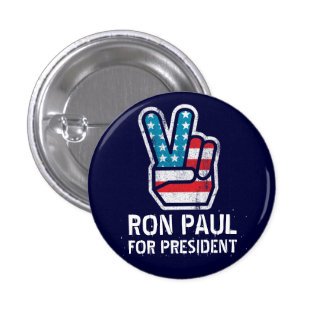 Botón de la paz de Ron Paul Pins