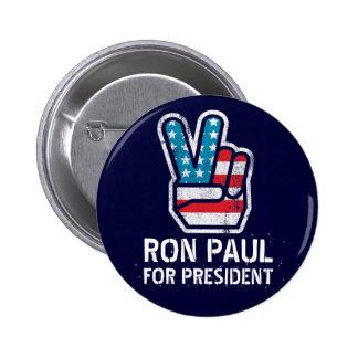 Botón de la paz de Ron Paul Pin