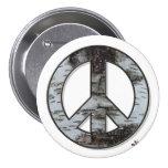 Botón de la paz del abedul pin