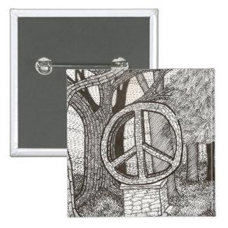 Botón de la paz del opus pin cuadrado