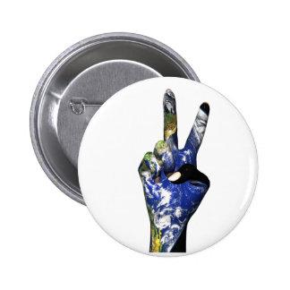 Botón de la paz pin redondo de 2 pulgadas
