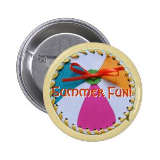 Botón de la pelota de playa pin redondo de 2 pulgadas