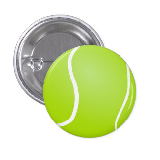 Botón de la pelota de tenis pins