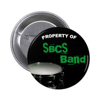 Botón de la percusión para la banda pin redondo de 2 pulgadas