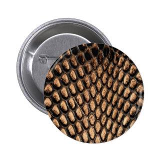 Botón de la piel de serpiente pin redondo de 2 pulgadas