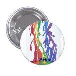 Botón de la pintura del arco iris del orgullo pin
