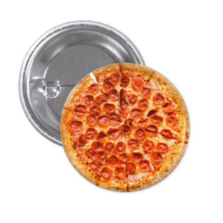 Botón de la pizza pin redondo de 1 pulgada