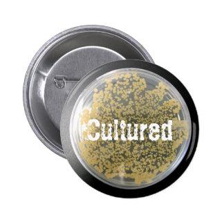 Botón de la placa de cultura de las bacterias pin redondo de 2 pulgadas