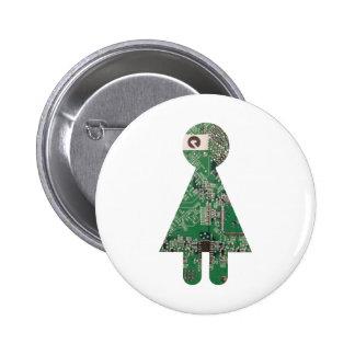 Botón de la placa madre pin