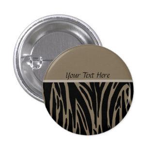 Botón de la plantilla del estampado de animales de pin redondo de 1 pulgada