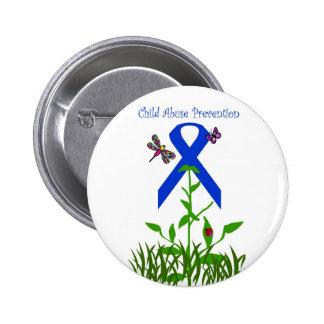 Botón de la prevención de la pederastia de la flor pins