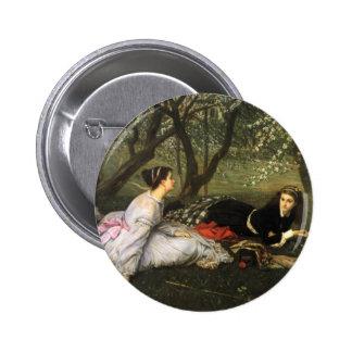 Botón de la primavera de James Tissot Pin Redondo De 2 Pulgadas