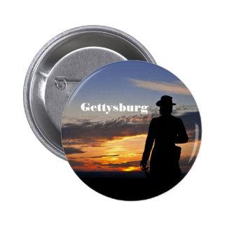 Botón de la puesta del sol de Gettysburg Pin Redondo De 2 Pulgadas