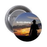 Botón de la puesta del sol de Gettysburg Pins