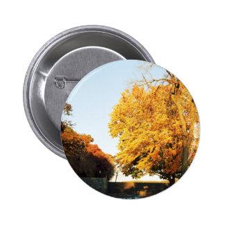 Botón de la puesta del sol de la caída pin