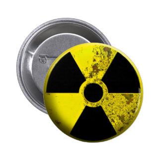 Botón de la radiación pins