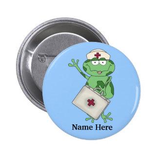 Botón de la rana de la enfermera pin