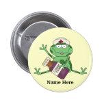 Botón de la rana de la enfermera pins