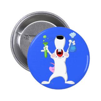 Botón de la rata del laboratorio del tubo de ensay pins