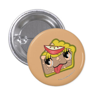 Botón de la rebanada de la empanada de Kawaii Appl