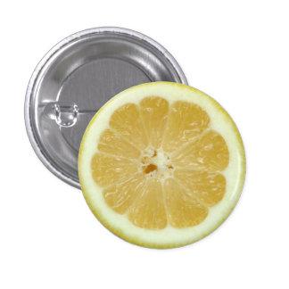 Botón de la rebanada del limón