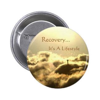 Botón de la recuperación pin redondo de 2 pulgadas