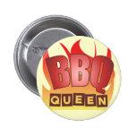 Botón de la reina del Bbq Pin Redondo De 2 Pulgadas