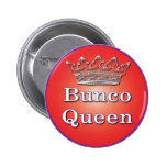 botón de la reina del bunco pin