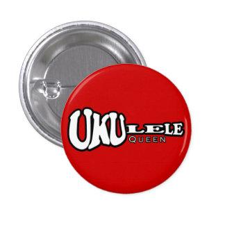 Botón de la reina del Ukulele pequeño Pin Redondo De 1 Pulgada