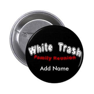 Botón de la reunión de la basura blanca