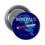 Botón de la revolución 2012 de Ron Paul Pin Redondo De 2 Pulgadas