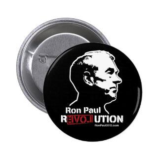 Botón de la revolución de Ron Paul Pin Redondo De 2 Pulgadas
