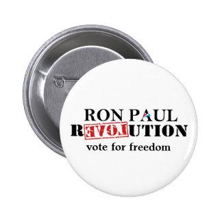 Botón de la revolución de Ron Paul - voto para la Pins