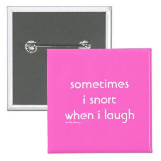 botón de la risa del snort pin