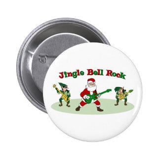 Botón de la roca de Jingle Bell Pins