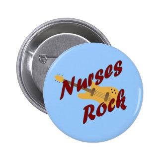 Botón de la roca de las enfermeras pin