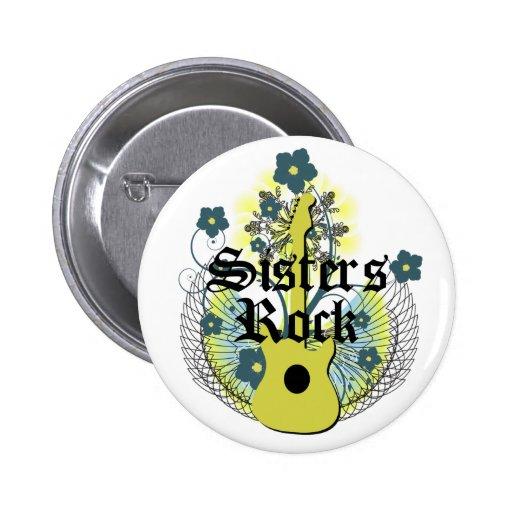 Botón de la roca de las hermanas
