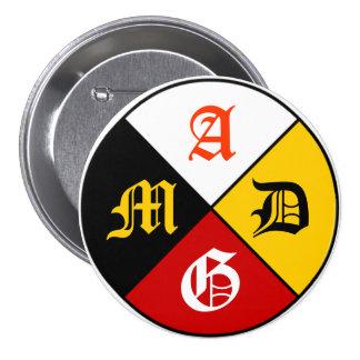 Botón de la rueda de la medicina de AMDG